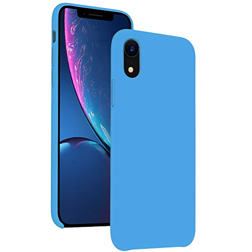 - DIACLARA iPhone XR Case Silicone, 6.1'' iPhone 10R Hybrid Cases Classic Bumper Shockproof Drop Protective Cover for Apple iPhone 2018 (Sky Blue, 6.1)