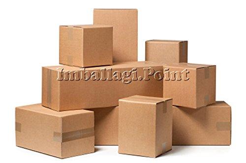 Emballages.Point–30pièces boîte de carton emballage expédition déménagement 25x 15x 10cm scatolone Havane