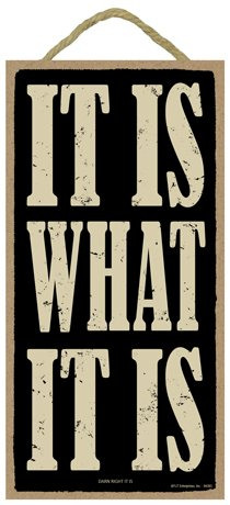 Inspirational Wholesale Plaques (SJT ENTERPRISES, INC. It is What it is (darn Right it is) 5