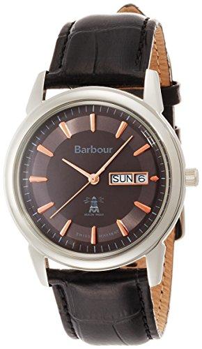 Barbour BB036SLBK Mens Gosforth Black Leather Strap Watch