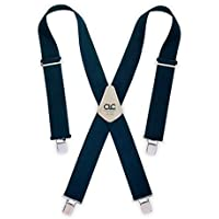 Custom Leathercraft 110BLU Heavy-Duty Work Suspenders, One Size, Blue by Custom Leathercraft