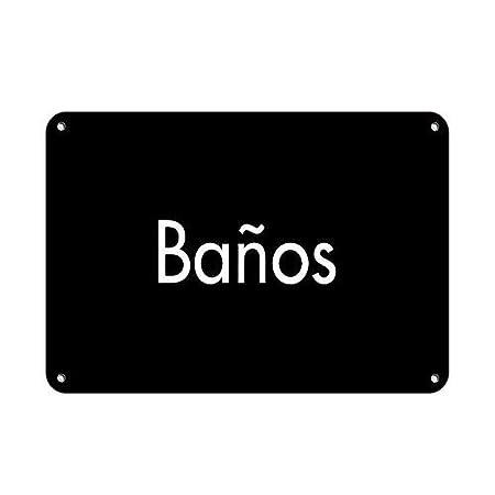 SALWON Banos ADA Sign ADA - Bilingual -Cartel De Chapa ...
