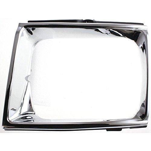Headlight Door for Toyota Pickup 89-91 RH 4WD Chrome Black Right Side