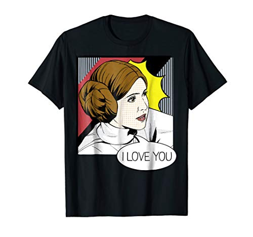 Star Wars Leia I Love You Pop Art Couples Graphic T-Shirt