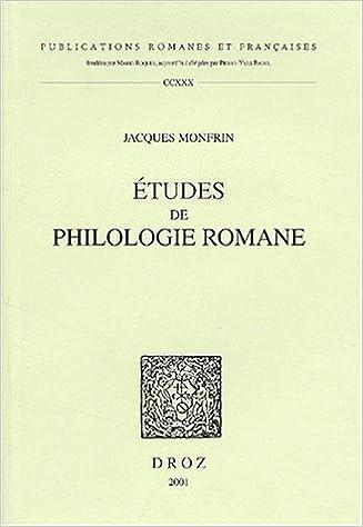Download Online Etudes De Philologie Romane epub pdf