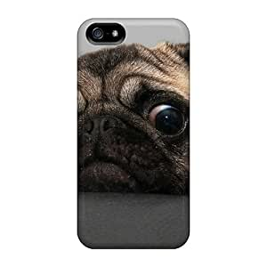 Awesome Design Crazy Pug Hard Case Cover For Iphone 5/5s