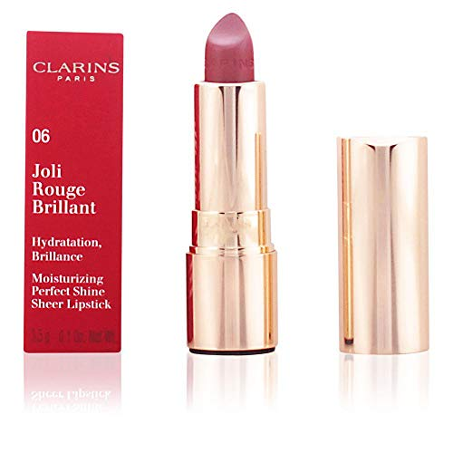 Clarins Joli Rouge Brilliant Lipstick, No. 06 Fig, 0.1 Ounce ()