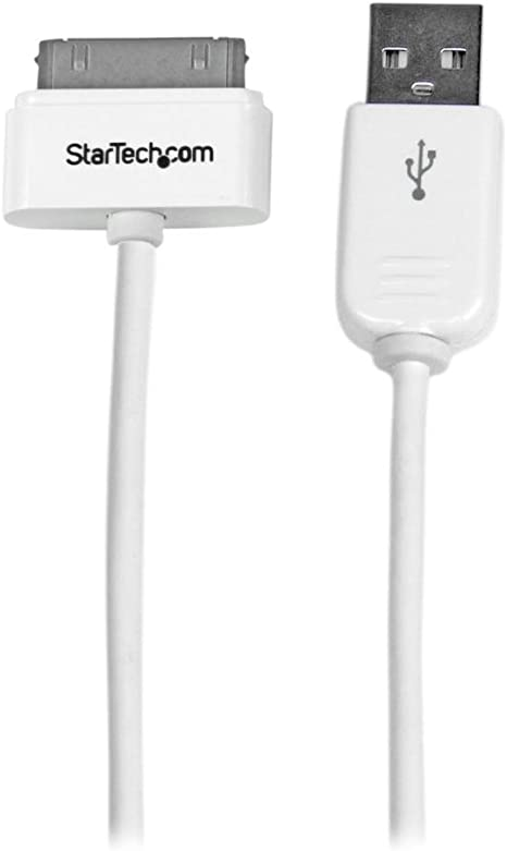 USB2ADC1M Cable Cargador (1 m, 30 Pines de Apple a USB 2.0) Blanco