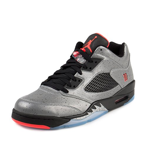 042d5752f7189b Galleon - Jordan Nike Mens 5 Retro Low Neymar Reflective Silver Infrared 23  Leather Size 10.5