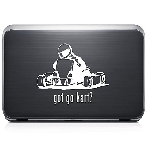 Got Go Kart Racing REMOVABLE Vinyl Decal Sticker For Laptop Tablet Helmet Windows Wall Decor Car Truck Motorcycle - Size (05 Inch / 13 Cm Wide) - Color (Matte White)