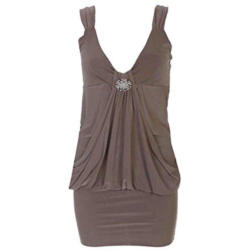 Broche femme femme 8 Tailles en Mini Moka robe pour Robe Drap haut Marron pour 20 8dAqEn