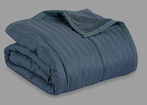Aeolus Down Blue Jean 250 Thread Count Microfiber Down Alternative Throw Blanket ()