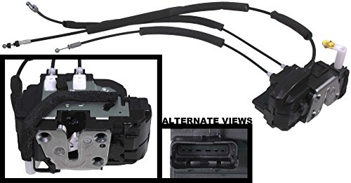 APDTY 048309 Door Lock Actuator With Cables Fits Front Left Driver Side Nissan Titan w/Manual Door Locks (Replaces 80501-7S21A, 805017S21A)