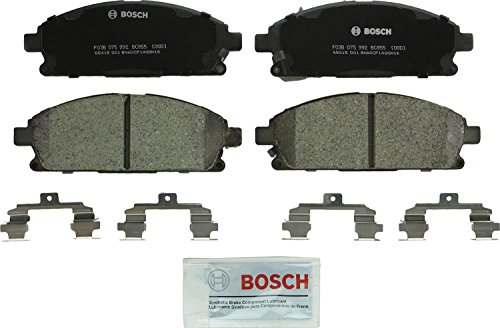 Bosch BC855 QuietCast Premium Ceramic Disc Brake Pad Set For Acura: 2003-2006 MDX; Infiniti: 1999-2001 Q45, 2002-2003 QX4; Nissan: 2002-2004 Pathfinder, 2004-2009 Quest; Front