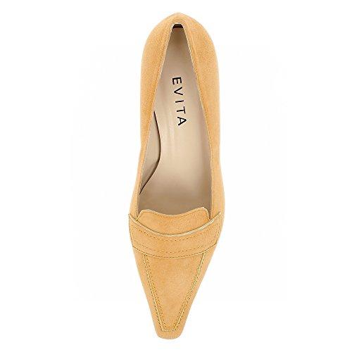 Escarpins Daim Femme Evita Shoes Orange LIA PAqZ7w8