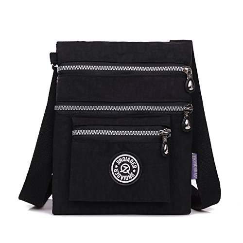 Cross Water body Nylon Black TianHengYi Small Shoulder Resistant Bag Multilayers vIw5wZPq