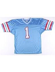 Warren Moon Unsigned Houston Oilers Custom Jersey - Size XL