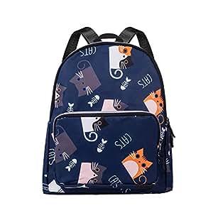 Honsing Girl Backpack, Casual Backpack for Women, College Kawaii Bookbag, Multi-Pockets Bags, Daypack Travel Bag