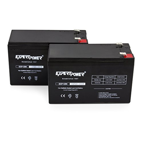 ExpertPower Black EXP1290-2 Batteries for APC UPS Computer Backup Power (BX1300LCD Replacement), 2 Pack
