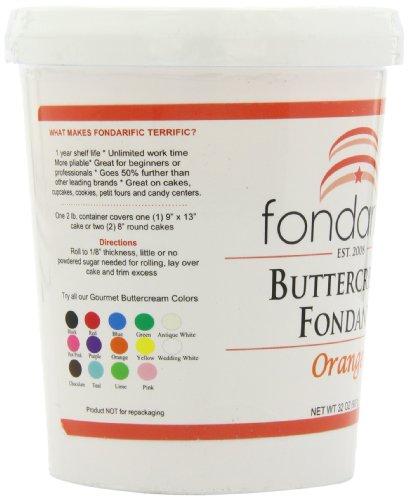Fondarific Buttercream Orange Fondant, 2-Pounds by Fondarific (Image #7)