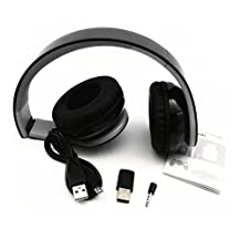 Beracah Stereo Gaming Wireless Headset for PS4 with USB Dongle Black