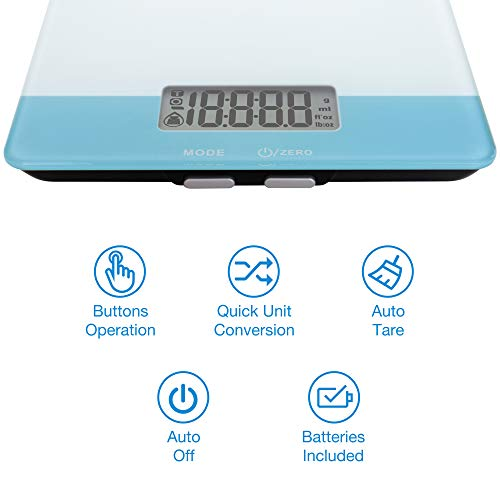 Easy@Home Digital Food Kitchen Scale, Professional Nutritional Calculator - Weight, Calories, Fat, Cholesterol, Carbohydrates - Diet Nutrient Diary Feature,ENC203