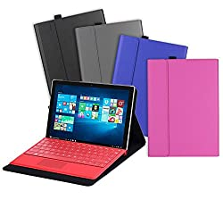 Valkit Microsoft Surface Pro 4 Case, Compatible Surface Pro 4 type Cover, Surface Pro 4 PU Leather Folio Protective Stand Cases Covers Bag Skin Compatible with Surface Original Keyboard, Blue