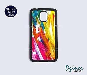 Galaxy S4 Heavy Duty Tough Case Cover - Colorful Paint Design