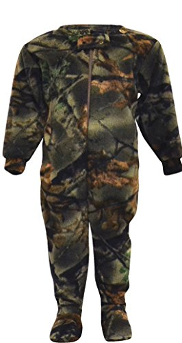 Infant Camo One Piece Footed Fleece Crawler, 3-6 Months, ()