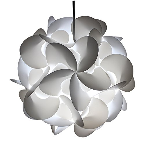 RayLineDo DIY Party Decoration- Puzzle Lampshade - Puzzle lightshade - Ceiling Lamp Shade -Self Assembly Diameter 30cm White