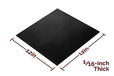 Rubber Sheet 12x12-in Black