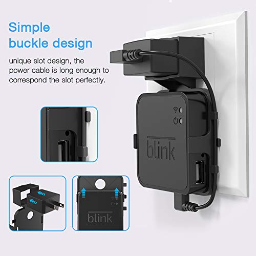 Koroao Outlet Wall Mount for Blink Sync Module, Simple Mounting Bracket  Holder for Blink XT Blink XT2 and Indoor Home Security Camera Systems Sync