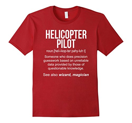 Men's Helicopter Pilot Meaning Shirt - Helicopter Pilot Funny Defi 3XL Cranberry