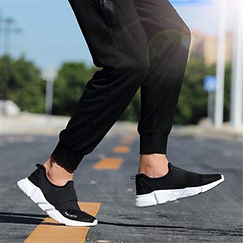 ZHZNVX Zapatos de Mujer Tela Primavera/Verano Comfort Sneakers Flat Heel Black/Gray Black