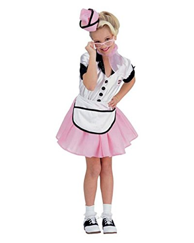 1950's Soda Pop Costume (Soda Pop Girl Child Costume - Medium)