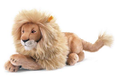 Steiff 064135 Leo Lion Plush Animal Toy, Blond (Stuffed Animal Lion Family)