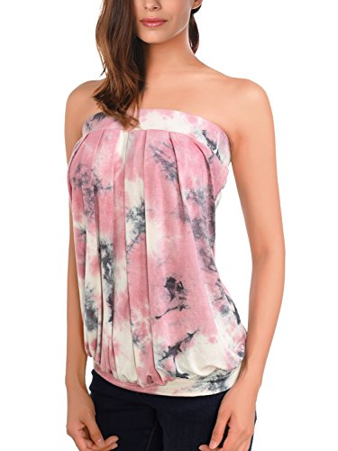 DJT Womens Sleeveless Stretchy Pleated