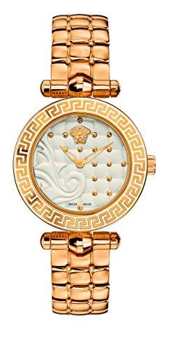 (Versace Women's VQM060015 Vanitas Micro Analog Display Swiss Quartz Gold-Tone Watch)