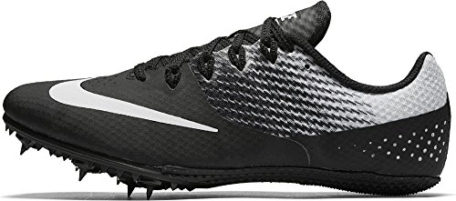 Nike Men's Zoom Rival S 8 Track Spike Black/Metallic Silver/White (Nike Spikes)