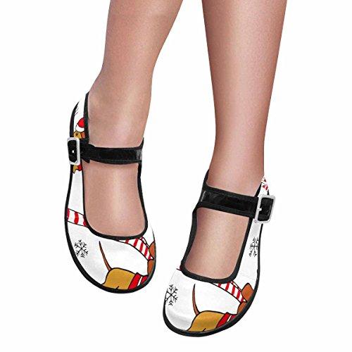 InterestPrint Womens Casual Multi 2 Mary Shoes Flats Walking Comfort Jane rrSHxwUq1