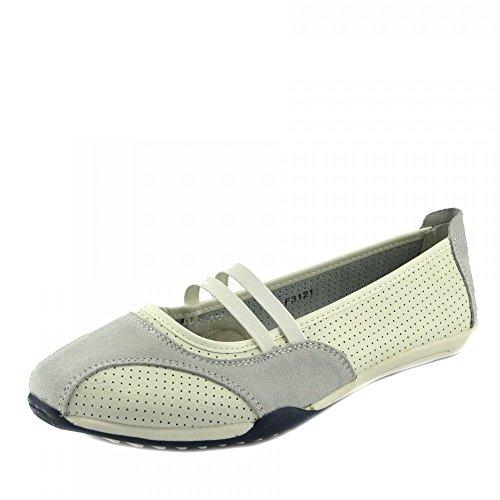 Kick Footwear - Damen Ballerina Ballett Dolly Pumps Damen Schwarz Slipper Schuhe Größe Neu White-F3121