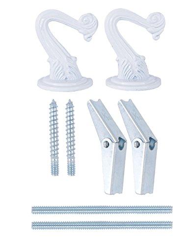 Swag Light Hook - B&P Lamp 2 Hook Swag Lamp Kit (White)