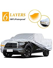 Autsop Car Cover Waterproof All Weather, 6-Layers Car Covers for Automobiles Snowproof Sunproof Dustproof Windproof Hail Protection Outdoor, Full Exterior Covers with Cotton, Universal Car Covers