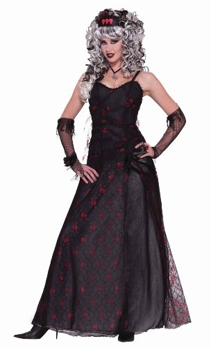 [Forum Novelties Men's Zombie Prom Queen Costume, Black/Red, Standard] (Zombie Queen Costumes)