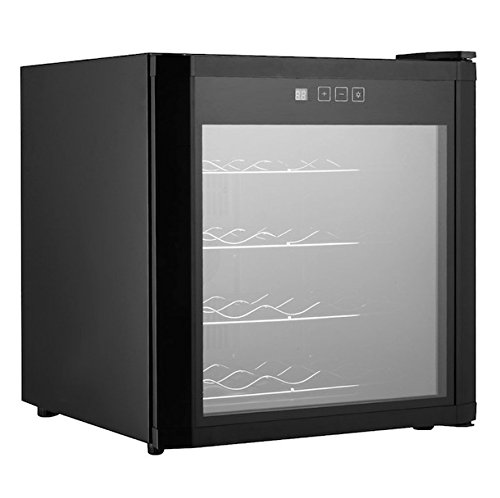 16 Bottles Wine Cooler Fridge Refrigerator Cellar Rack Storage Holder Cabinet Chiller Home Restaurant Kitchen Dining Room Bar Use Compact And Energy-Efficient Glass Door LED Temperature Display (Outside Dining Ideas)