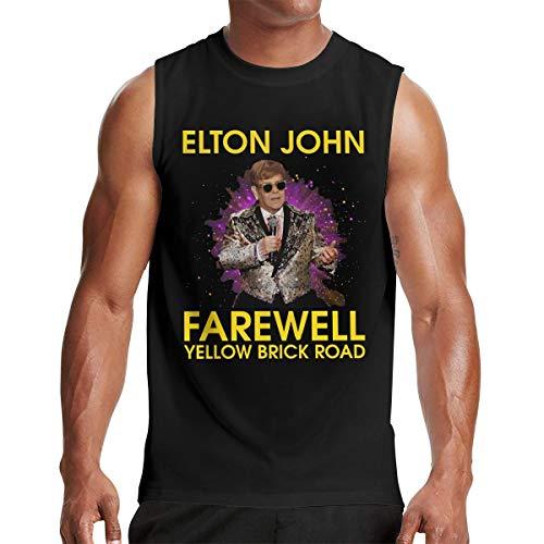 Mens Retro Elton Farewell John T-Shirt Black