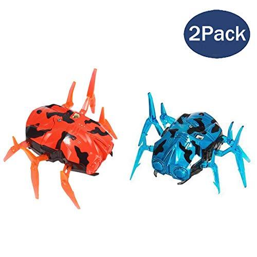 Fstop Labs 2 Pack Laser Tag Bug Spider Moving Robot, Space Blaster Training Bot, Robot Nano Bug Striker LED Laser Tag for Kids Game Toy Indoor and Outdoor Activity (Orange & Blue)