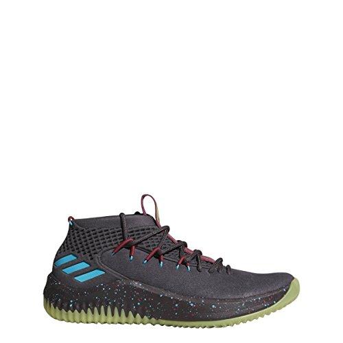 Adidas Dame 4 Shoe Hombres Basketball Utility Black-energy Azul-amarillo