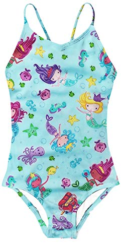 AIDEAONE Litte Girls One Piece Swimsuit Mermaid Princess Bathing Suits Swimwear for Kids