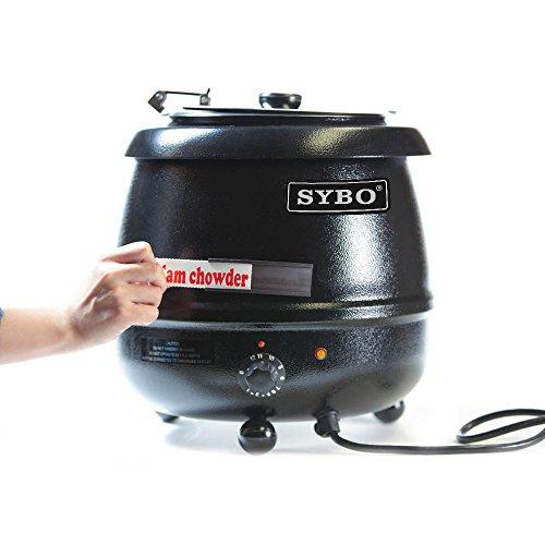SYBO SB6000 SB-6000 Soup Kettle, 10.5 Quarts, Black and Sliver by SYBO (Image #5)
